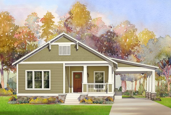 wickliffe modular home rendering