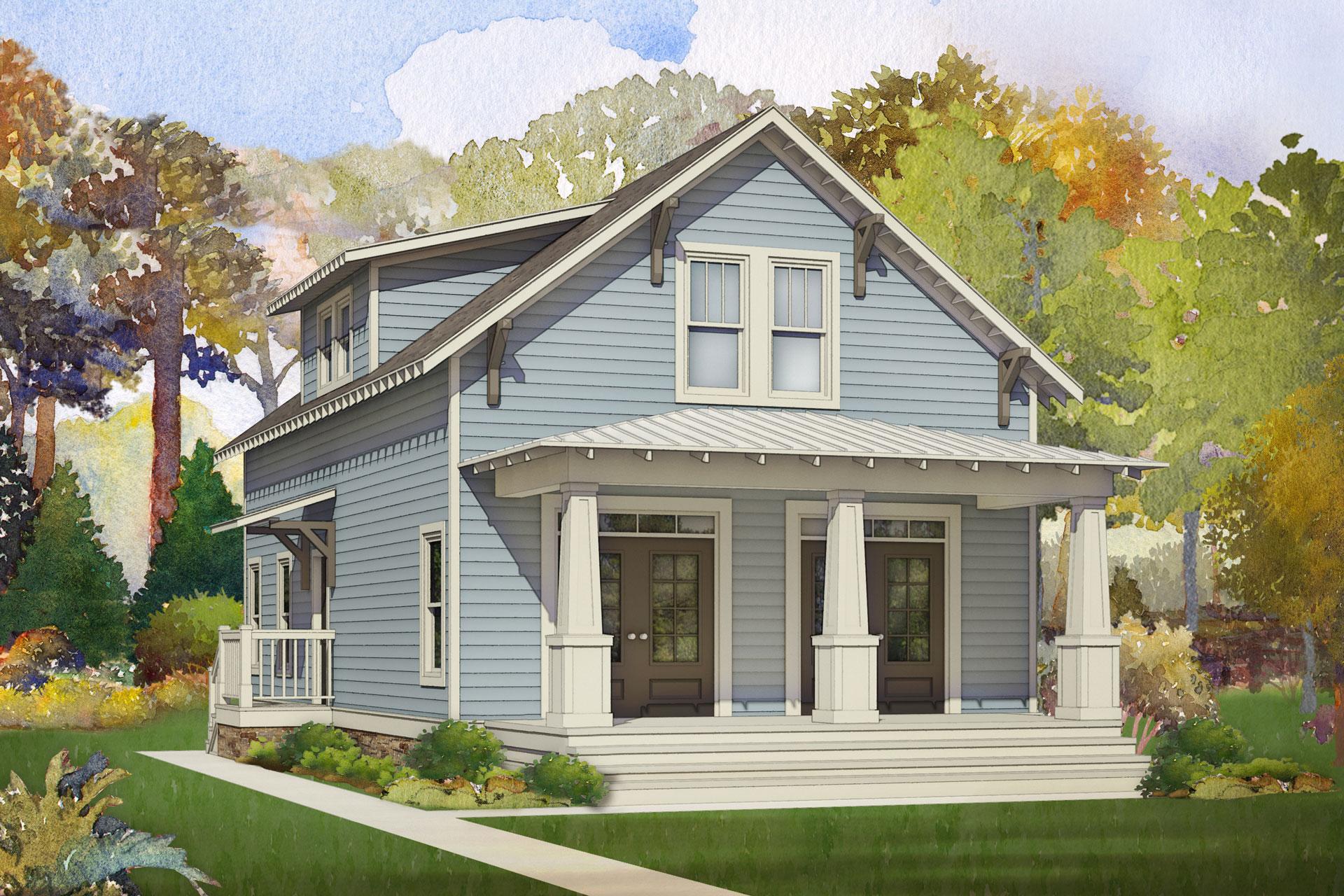 coffee bluff modular home rendering