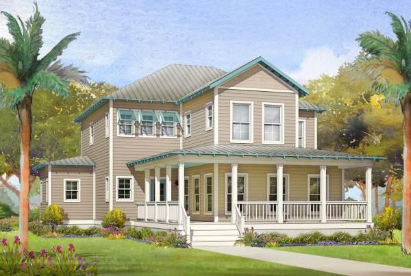 sawgrass modular home rendering