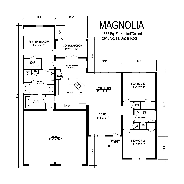 magnolia modular home floorplan