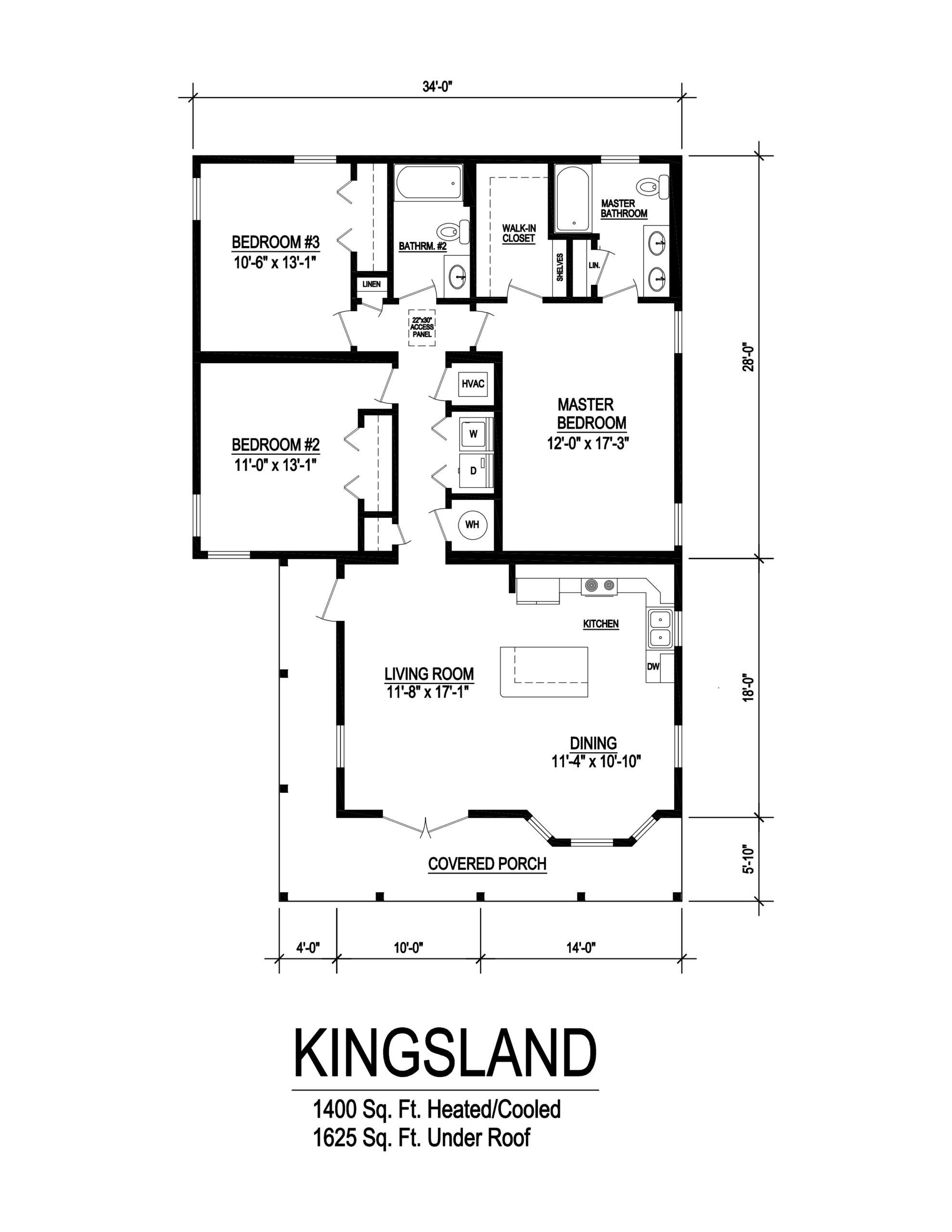 kingsland modular home floorplan