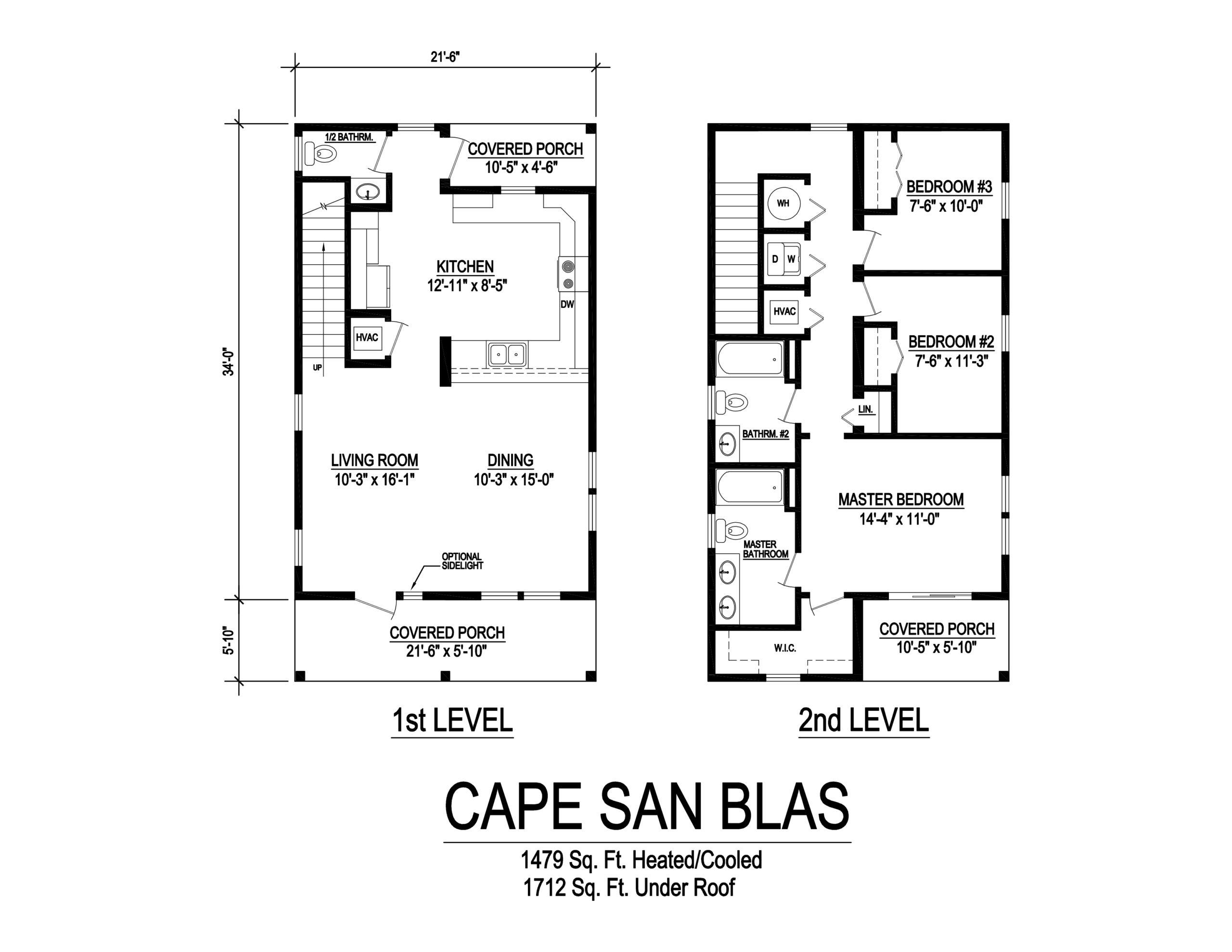 cape san blas modular home floorplan
