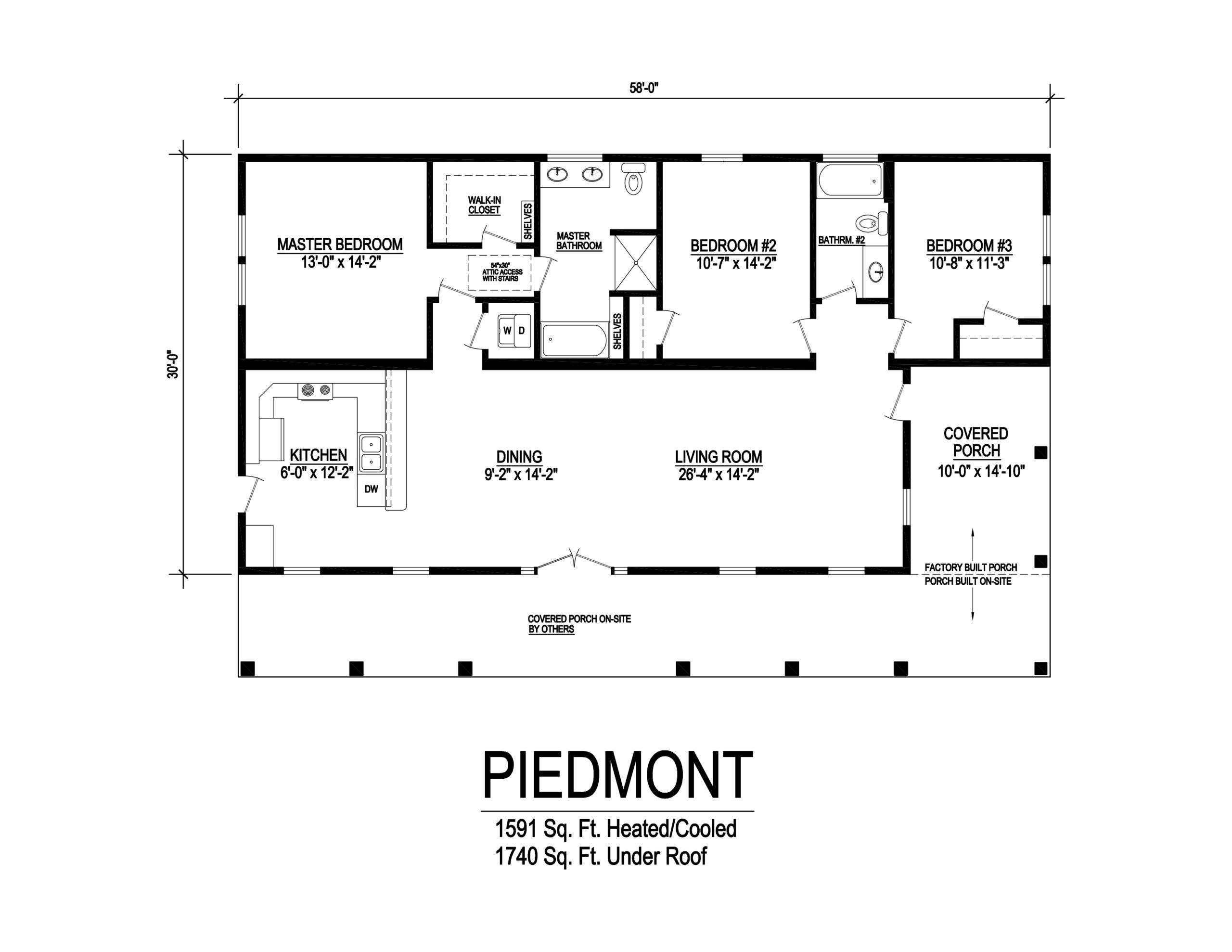 piedmont modular home floor plan