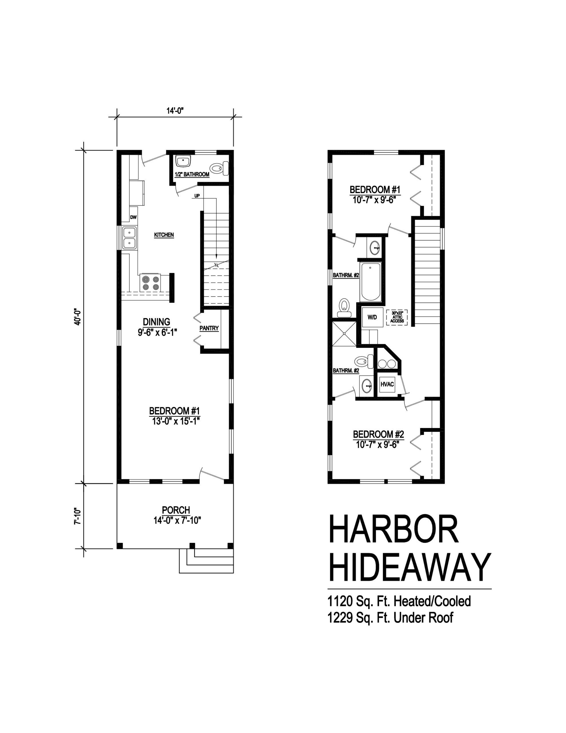 harbor hideaway modular home floor plan