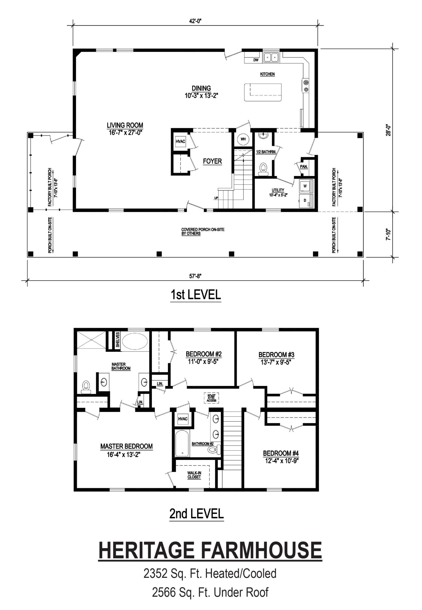 heritage farmhouse modular home floor plan