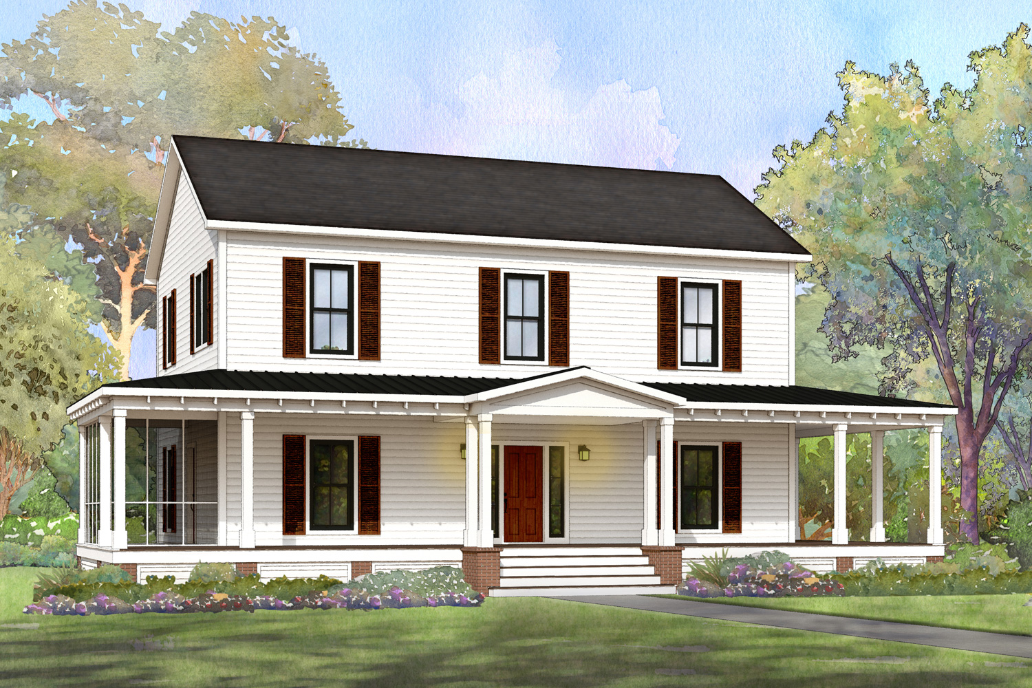 heritage farmhouse modular home