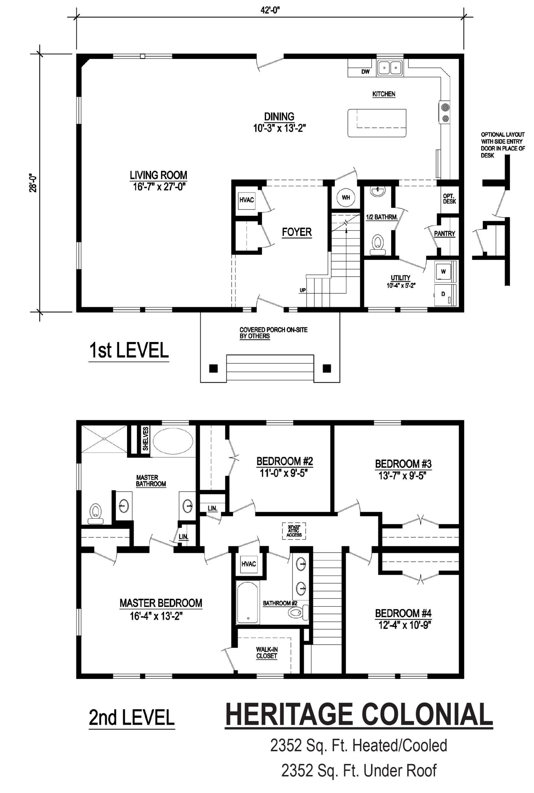 heritage colonial modular floor plan