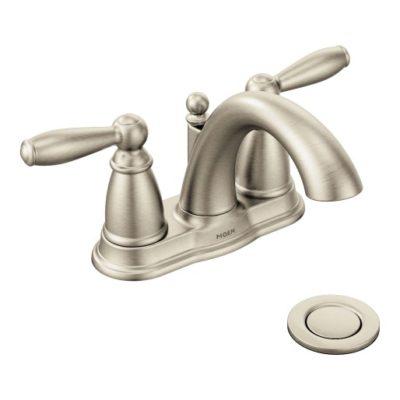 moen brantford stainless steel bathroom faucet