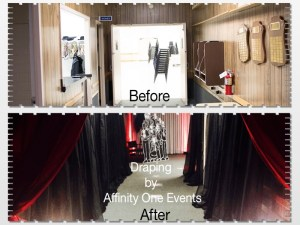Before and After Draping