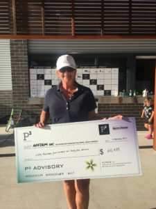 AFFIRM Board Member Belinda Kenyon receives the generous donation to make the project possible.