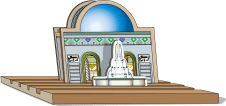 mosque standing tray fountain