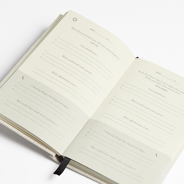How are the 5 Minute Journal pages setup?