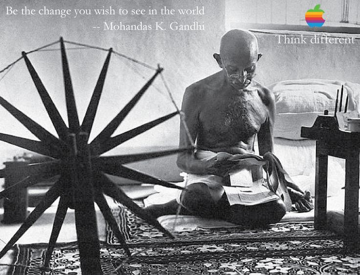 Image result for think different gandhi ad