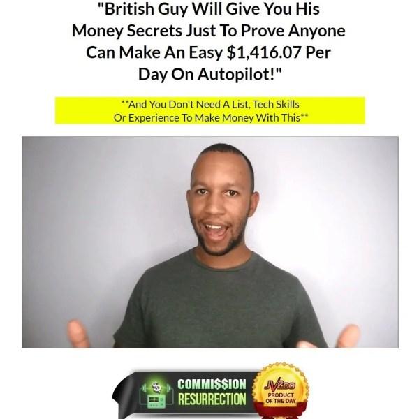 Review Commission Resurrection, British Guy Money Secrets $1416 per Hari dan Autopilot