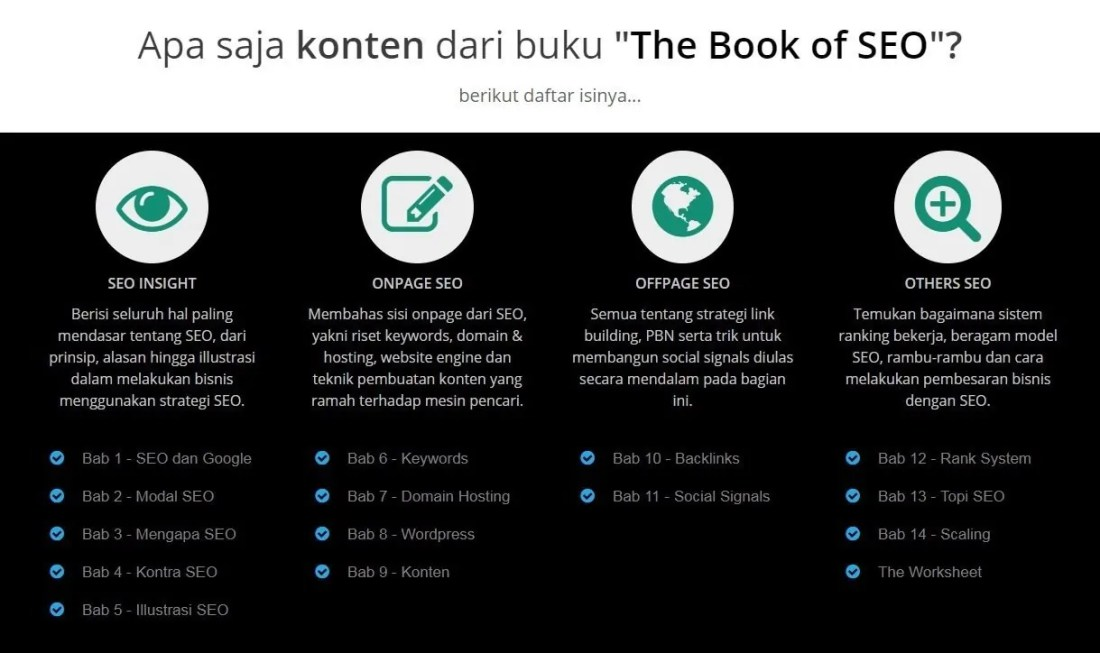 Daftar Isi Buku The Book of SEO Rianto Astono