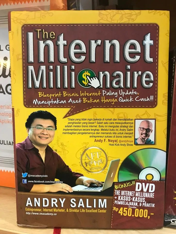 Review Buku The Internet Millionaire by Andry Salim