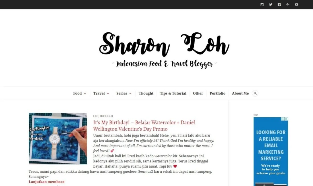 Blogger Perempuan Indonesia Sharon Loh Travelogue