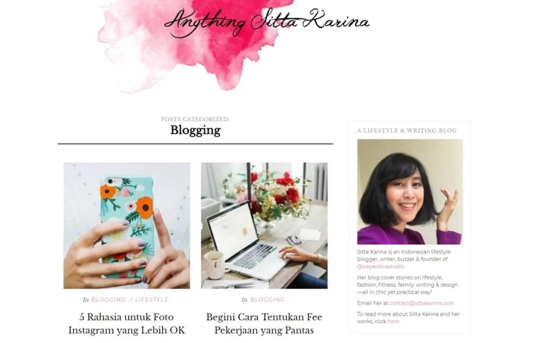 Blogger Perempuan Indonesia Sitta Karina