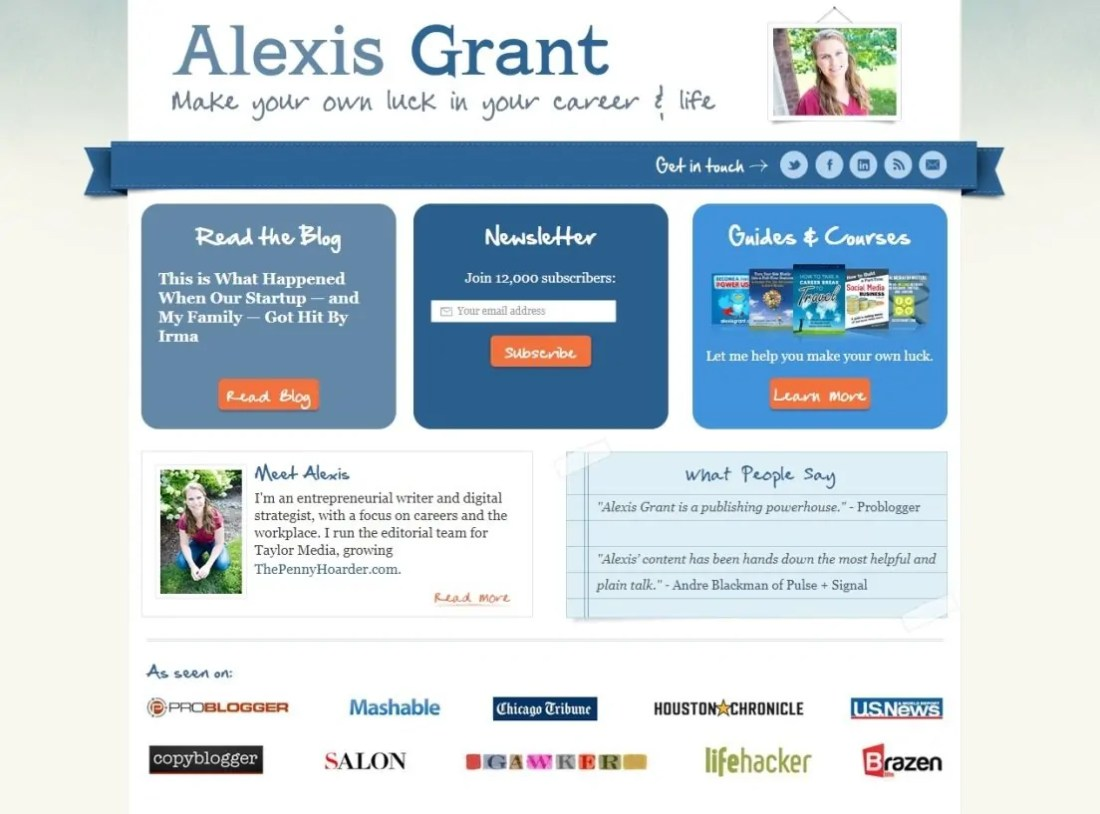 Blog Alexis Grant Internet Marketing