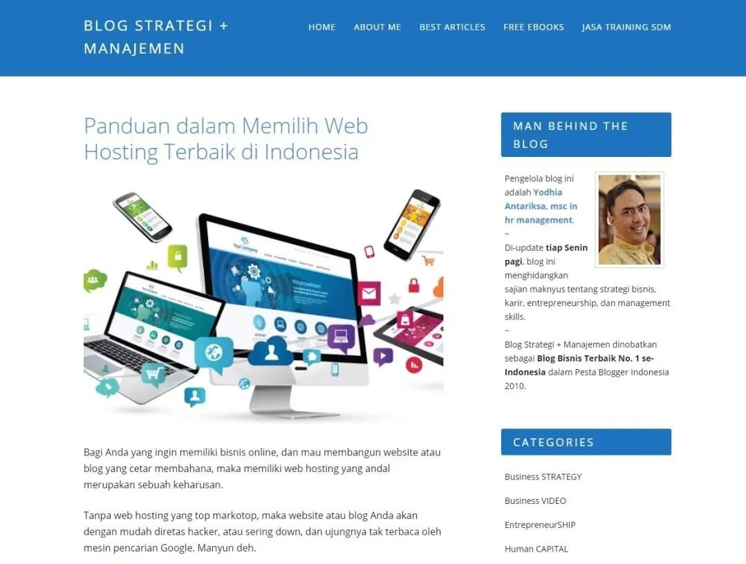 Blog Bisnis Online Strategi Manajemen by Yodhia Antariksa
