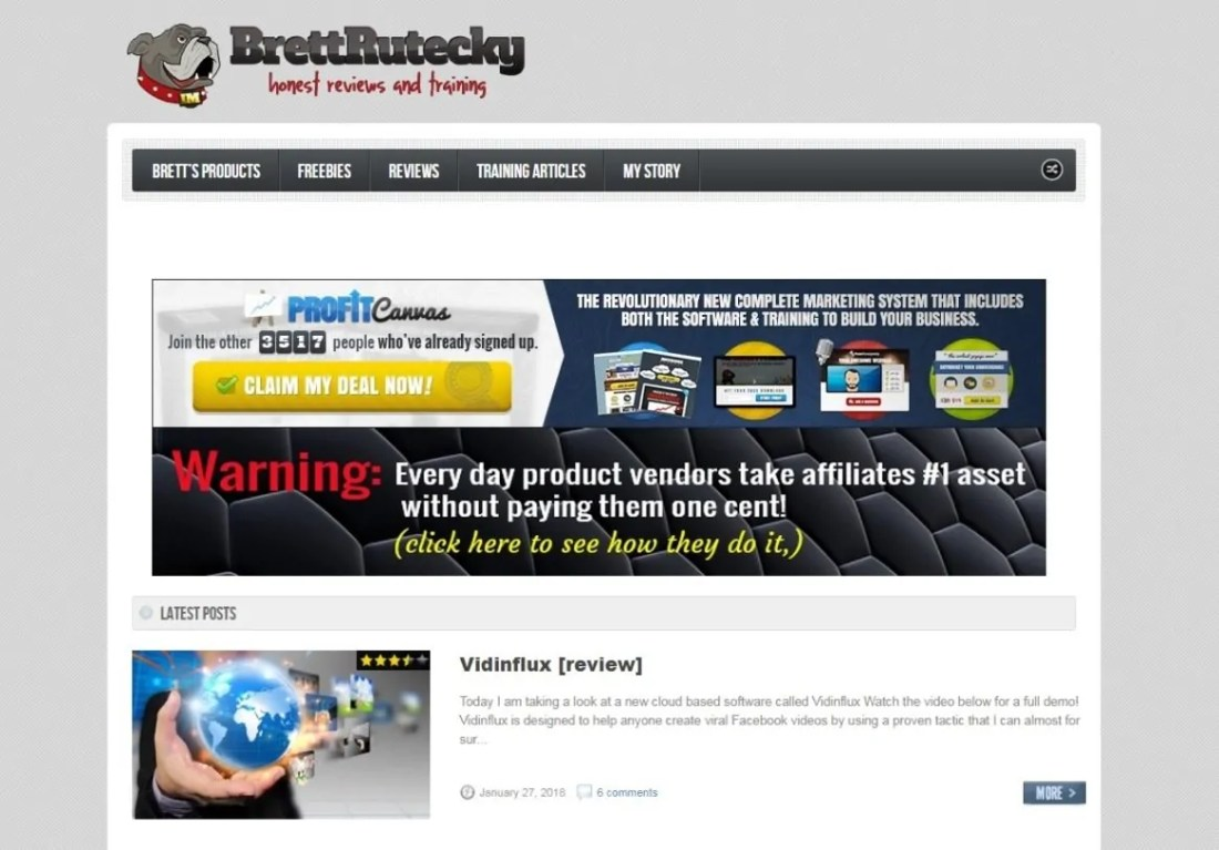 Blog Brett Rutecky Affiliate Marketing