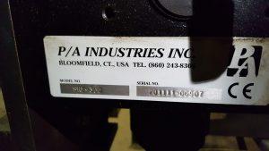 6000lb Servo Feeder PA Industries For Sale