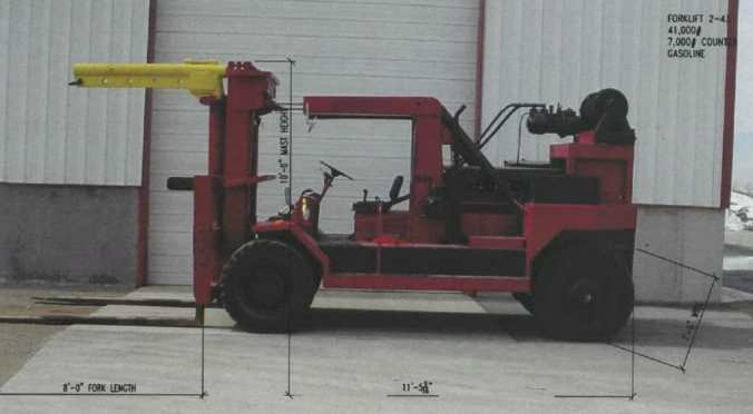 41,000 lb  Capacity Taylor Forklift For Sale - Heavy Hauling