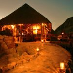 Khowarib Lodge - Bar at night