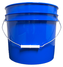 3.5 gallon pail chevron blue
