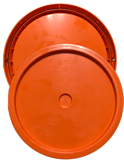 345 round pail lid orange