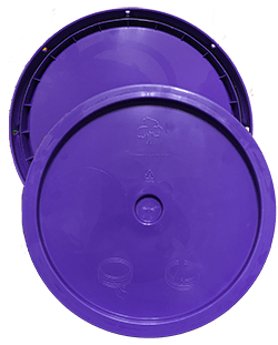 345 round pail lid purple