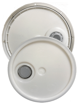 345 round pail lid with spout natural