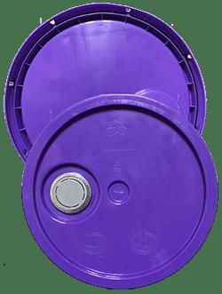 345 round pail lid with spout purple