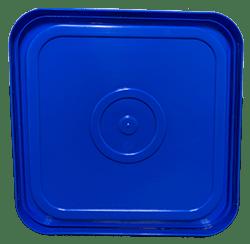 4 gallon square lid blue