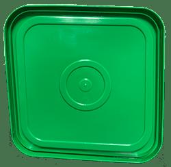 4 gallon square lid green