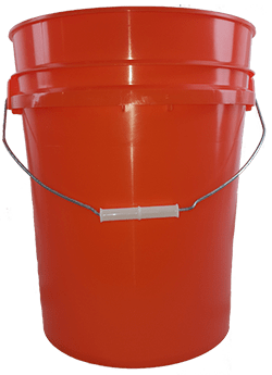 5.25 gallon pail orange