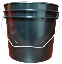 1 gallon bucket black
