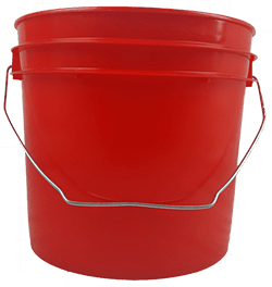 1 gallon pail red