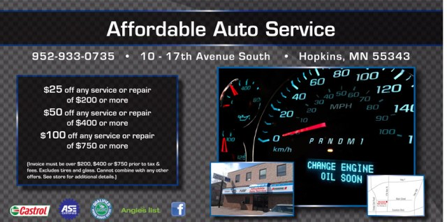 Affordable Auto Specials Minnesota Auto Repair Coupons