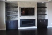 Built In Shelves Fireplace. Elegant Built In Tv Wall Units ...