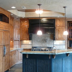 Hickory Shaker Style Kitchen Cabinets 30 Sink Affordable Custom - Showroom