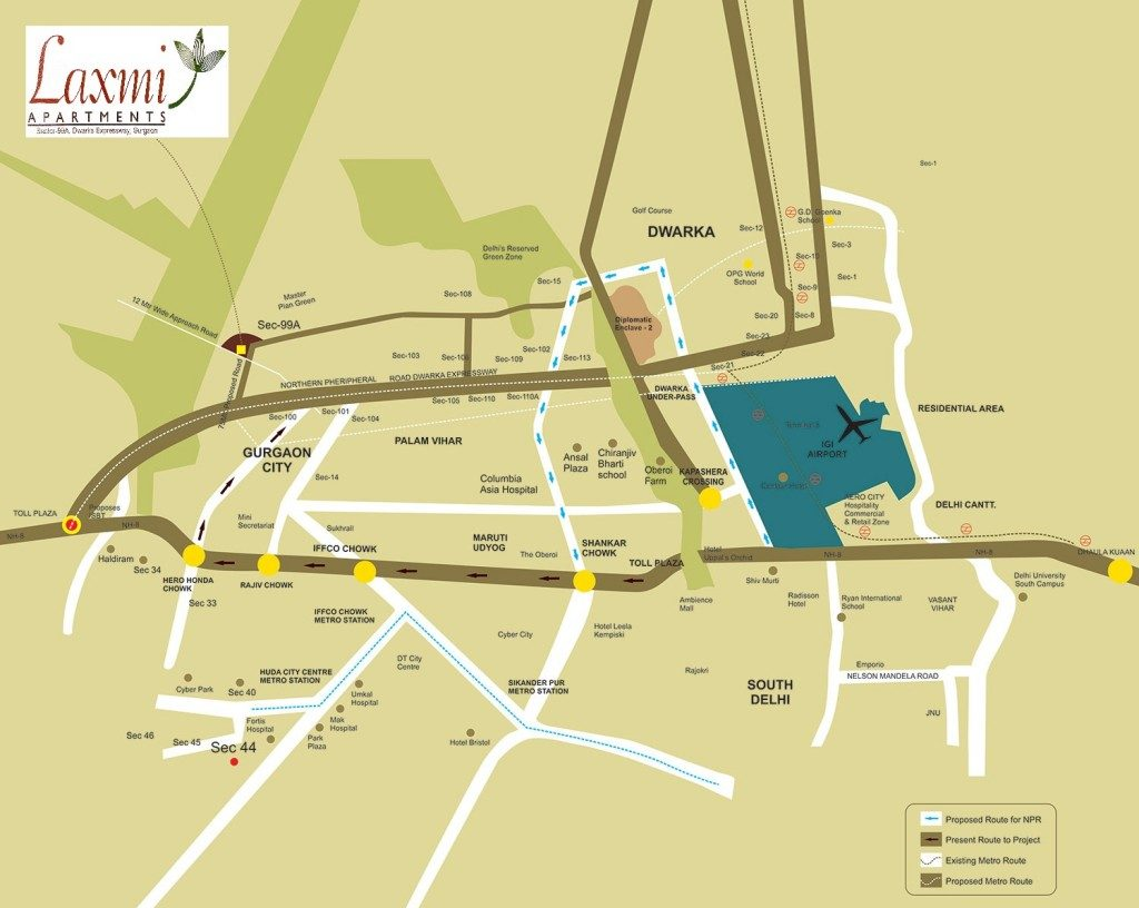 affordable housing project in sector 99a gurgaon location map