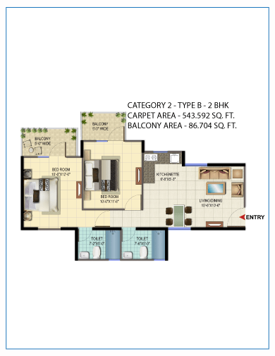 2 BHK type 2 Gurgaon