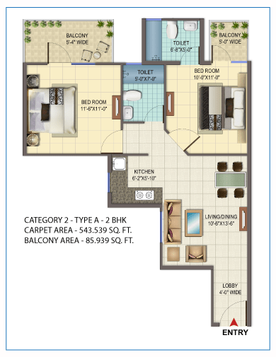 orchard avenue sector 93 2 BHK type 1