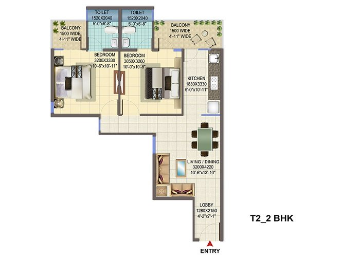 Signature Global Affordable Housing 2 bhk