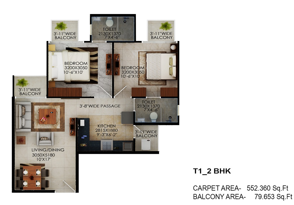 Signature global sector 63A floor plan