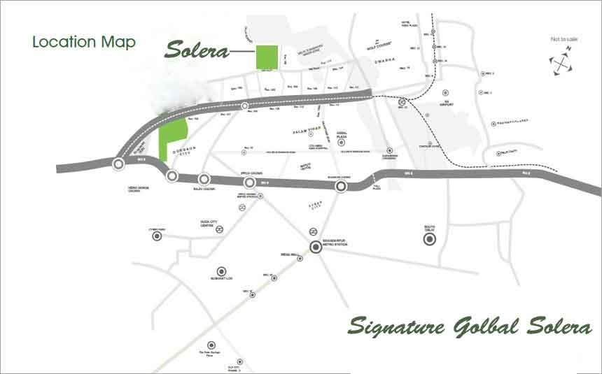 affordable housing project in sector 107 gurgaon location map
