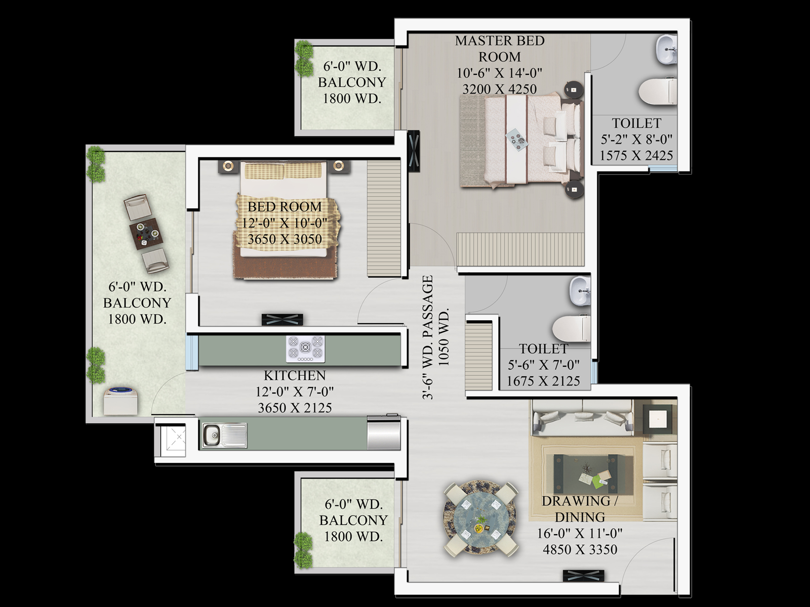 Hill town floor plan