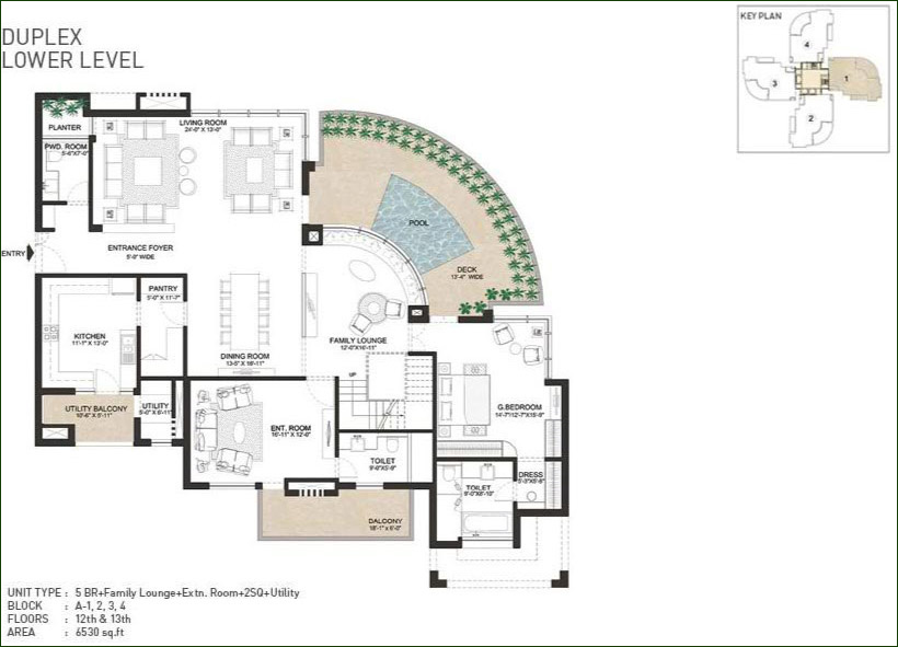 India bulls 5 Bhk pent house 6530