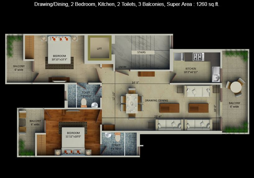 SUpertech Aadri Floor Plan